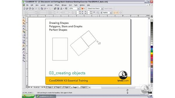 Drawing shapes: CorelDRAW Graphics Suite X3 Essential Training