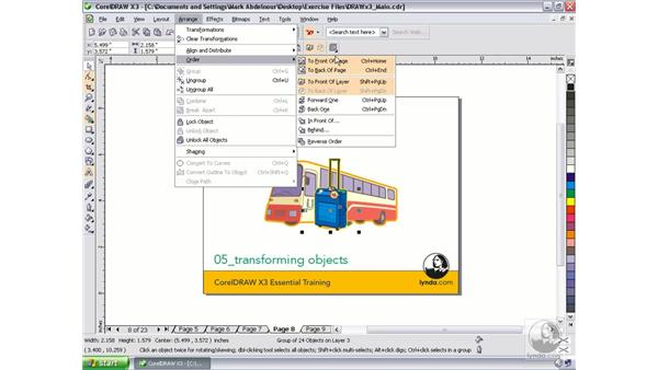 Arranging objects: CorelDRAW Graphics Suite X3 Essential Training