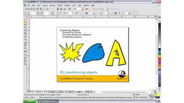Converting objects: CorelDRAW Graphics Suite X3 Essential Training