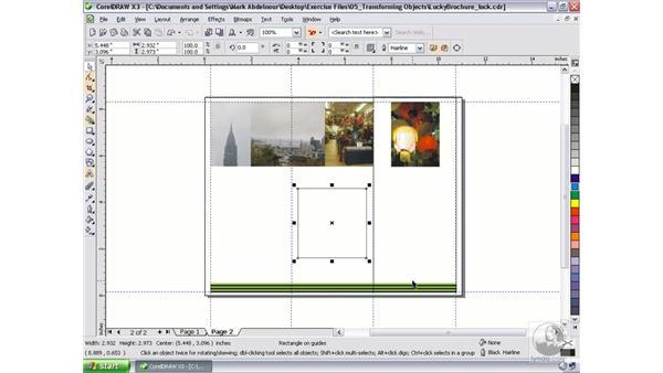 Locking objects: CorelDRAW Graphics Suite X3 Essential Training