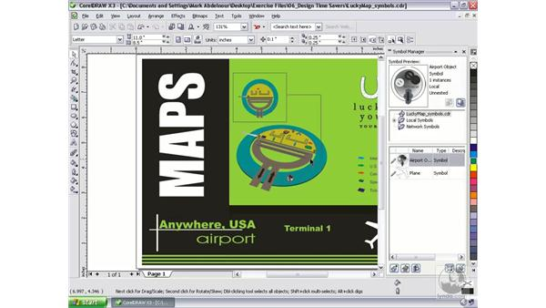 Working with symbols: CorelDRAW Graphics Suite X3 Essential Training
