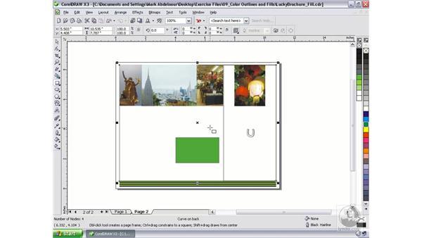 Color filling options: CorelDRAW Graphics Suite X3 Essential Training