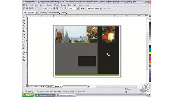 Using the Eyedropper and Paintbucket Tools: CorelDRAW Graphics Suite X3 Essential Training