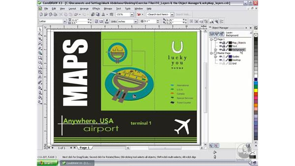 Working with layers: CorelDRAW Graphics Suite X3 Essential Training