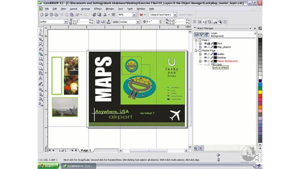 Using the master layer: CorelDRAW Graphics Suite X3 Essential Training