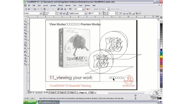 View modes: CorelDRAW Graphics Suite X3 Essential Training