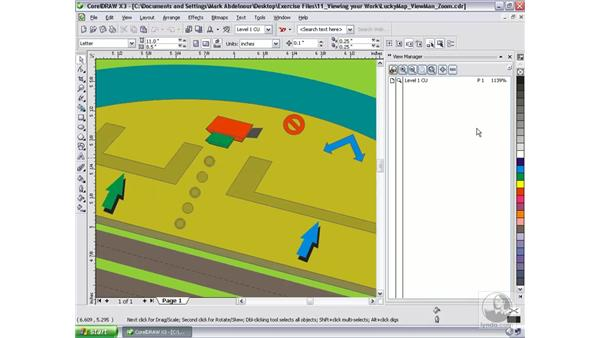 Using the View Manager: CorelDRAW Graphics Suite X3 Essential Training