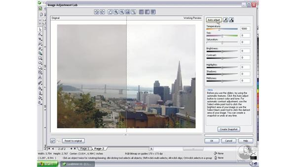 Using the Image Adjustment Lab: CorelDRAW Graphics Suite X3 Essential Training