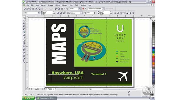 PowerClipping objects: CorelDRAW Graphics Suite X3 Essential Training
