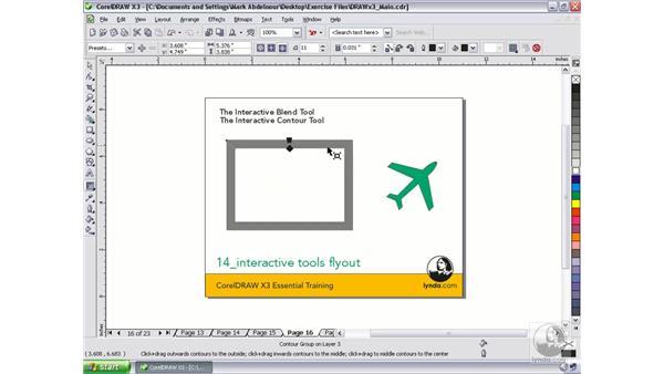 Interactive Contour Tool: CorelDRAW Graphics Suite X3 Essential Training