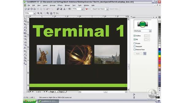 Using the lens effect: CorelDRAW Graphics Suite X3 Essential Training
