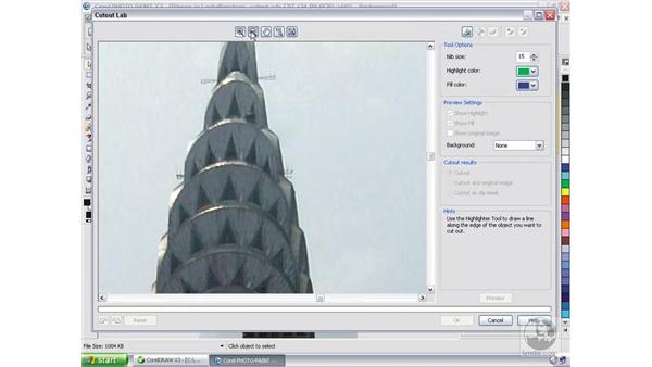 CorelPHOTO PAINT: Cutout Lab: CorelDRAW Graphics Suite X3 Essential Training