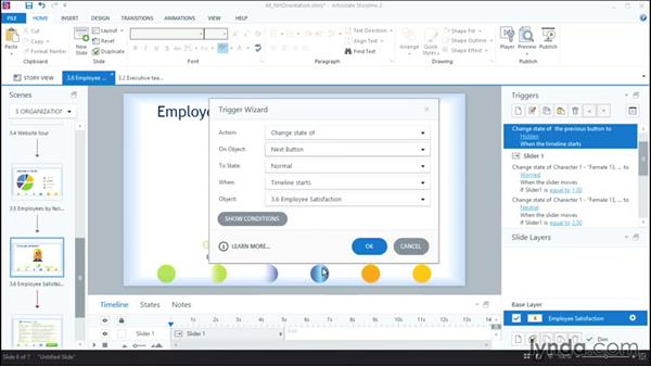 Controlling player buttons with triggers: Articulate Storyline 2 First Look