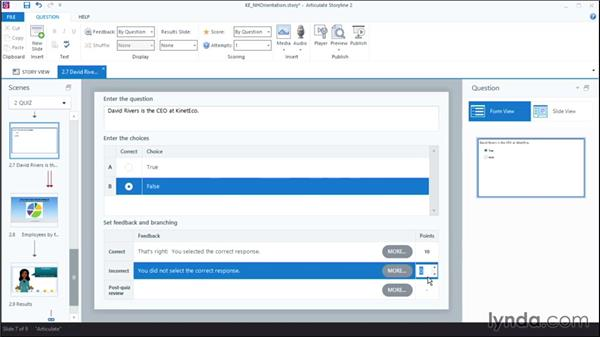 Using negative scoring for wrong answers: Articulate Storyline 2 First Look