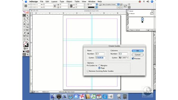 Using the Create Guides command: InDesign CS2 Beyond the Basics