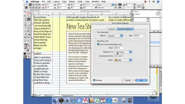 Working with frame-based baseline grids: InDesign CS2 Beyond the Basics