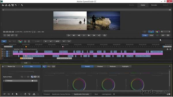 Performing automatic shot matching: EPK Editing Workflows 03: Color Correction, Visual Effects, and Finishing