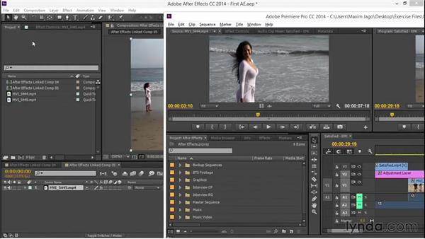 Sharing media with Adobe After Effects: EPK Editing Workflows 03: Color Correction, Visual Effects, and Finishing