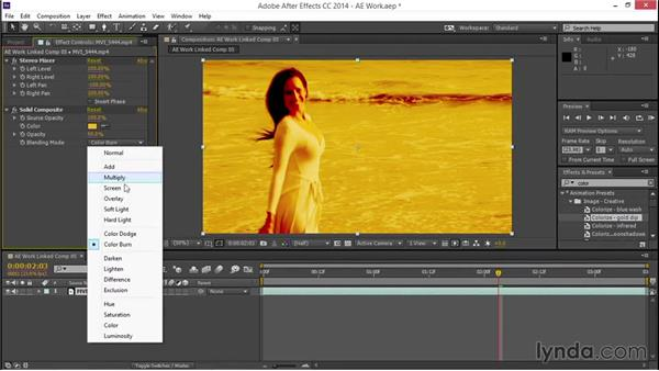 Adding, modifying, and removing effects in After Effects: EPK Editing Workflows 03: Color Correction, Visual Effects, and Finishing