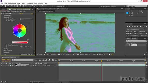 Experimenting with the Colorama effect: EPK Editing Workflows 03: Color Correction, Visual Effects, and Finishing