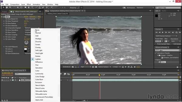 Adding glow: EPK Editing Workflows 03: Color Correction, Visual Effects, and Finishing