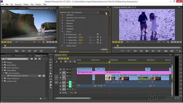 Blending in-camera footage with documentary footage: EPK Editing Workflows 03: Color Correction, Visual Effects, and Finishing
