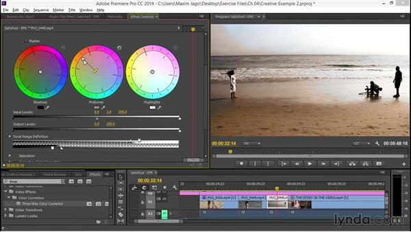 Creative effect example: Creating a warm, soft look: EPK Editing Workflows 03: Color Correction, Visual Effects, and Finishing