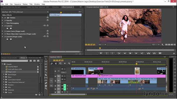 Creating a single effect and a multi-effect preset: EPK Editing Workflows 03: Color Correction, Visual Effects, and Finishing