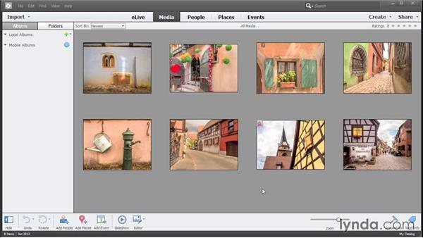 Making a catalog for the exercise files: Photoshop Elements 13 Essential Training