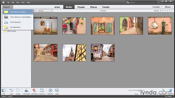 Importing photos from a drive: Photoshop Elements 13 Essential Training