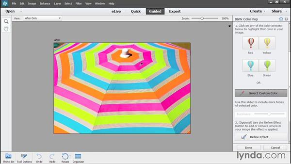 Using Guided Edit in the editor: Photoshop Elements 13 Essential Training