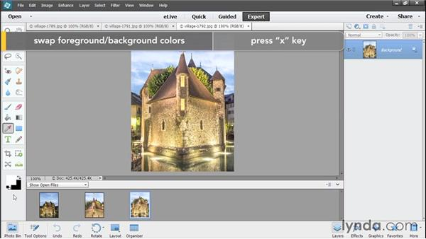Overview of the Expert Edit workspace: Photoshop Elements 13 Essential Training