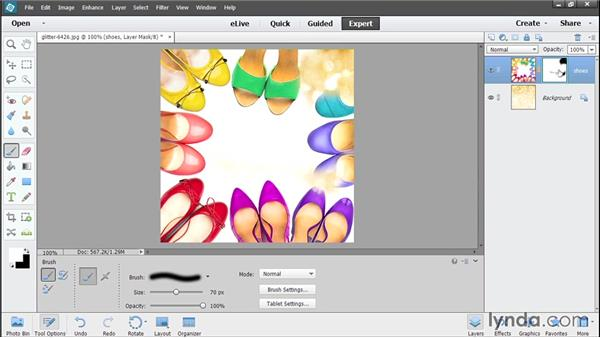 Compositing with layer masks: Photoshop Elements 13 Essential Training