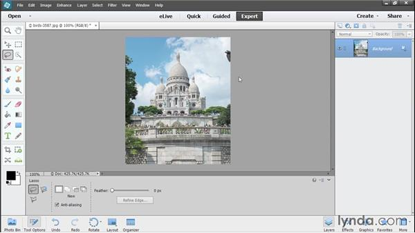 Content-aware retouching: Photoshop Elements 13 Essential Training