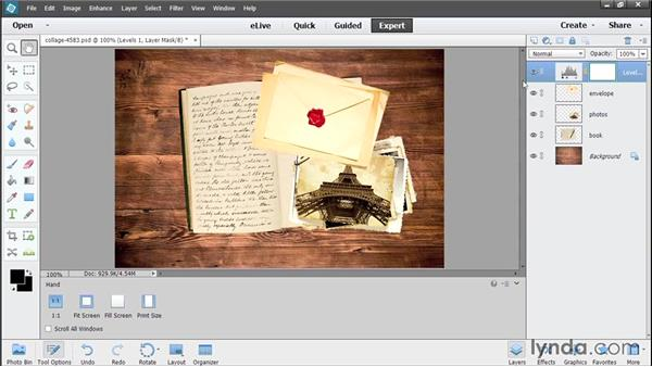 Correcting nondestructively with adjustment layers: Photoshop Elements 13 Essential Training