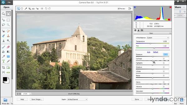 Processing raw photos in Camera Raw: Photoshop Elements 13 Essential Training
