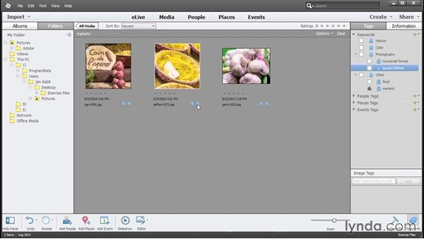Finding photos by keywords: Photoshop Elements 13 Essential Training
