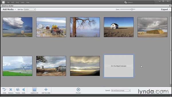 Making a slideshow: Photoshop Elements 13 Essential Training