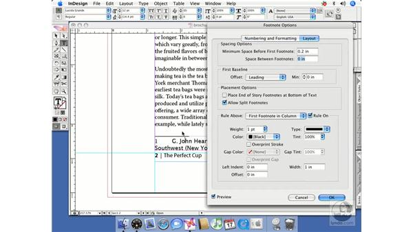 Footnotes: InDesign CS2 Beyond the Basics