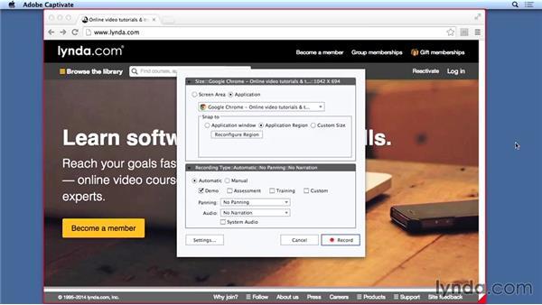 Exploring software simulations: Captivate 8 Essential Training