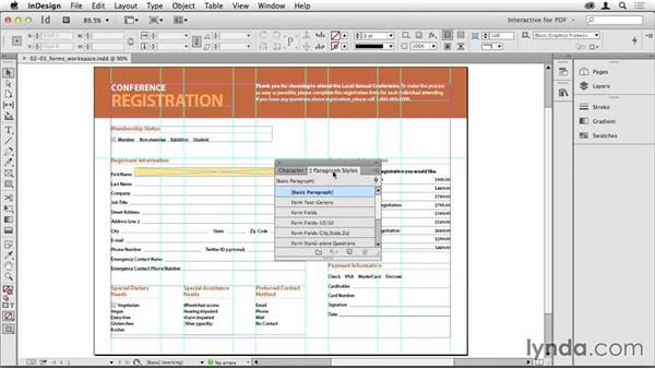 Installing a forms workspace: Creating PDF Forms with InDesign