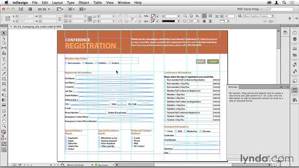 Managing tab order: Creating PDF Forms with InDesign