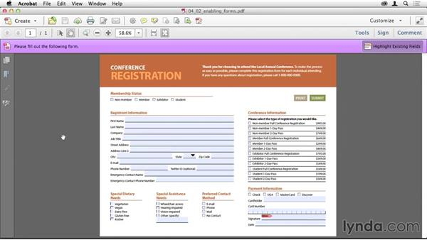Enabling a form for distribution: Creating PDF Forms with InDesign