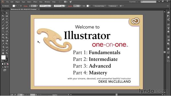 Using and hiding the Welcome screen (CC 2014): Illustrator CC 2013 One-on-One: Fundamentals
