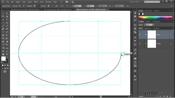 Path direction and Rubber Band preview: Illustrator CC 2013 One-on-One: Fundamentals