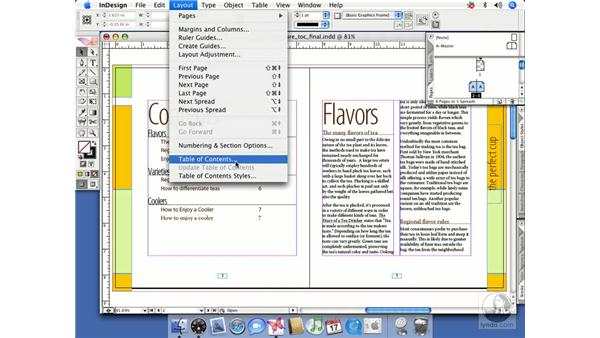 Preparing for a TOC: InDesign CS2 Beyond the Basics