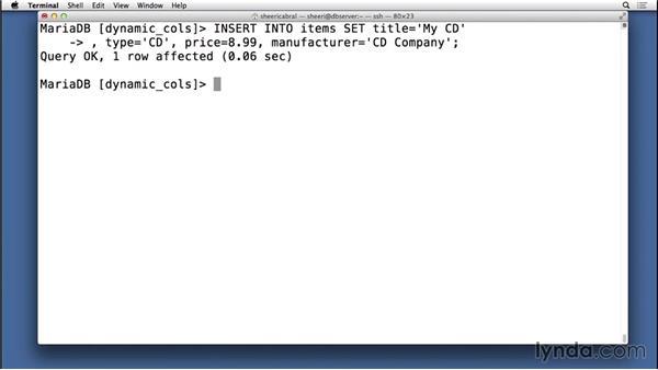 Creating dynamic columns: Understanding MariaDB for MySQL Users