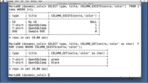 Querying dynamic columns: Understanding MariaDB for MySQL Users