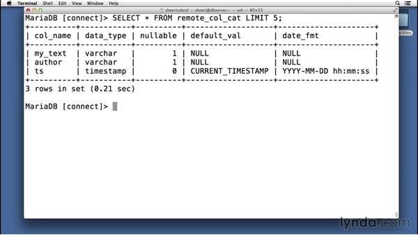 Getting remote database metadata: Understanding MariaDB for MySQL Users