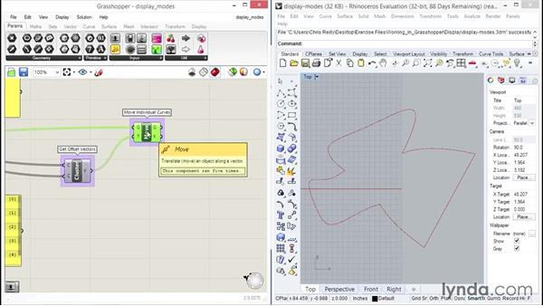 Looking at display modes: Up and Running with Grasshopper